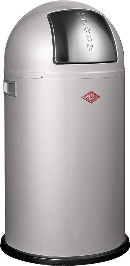 Cubo de la basura Wesco 175 531-11 color plateado 22 l