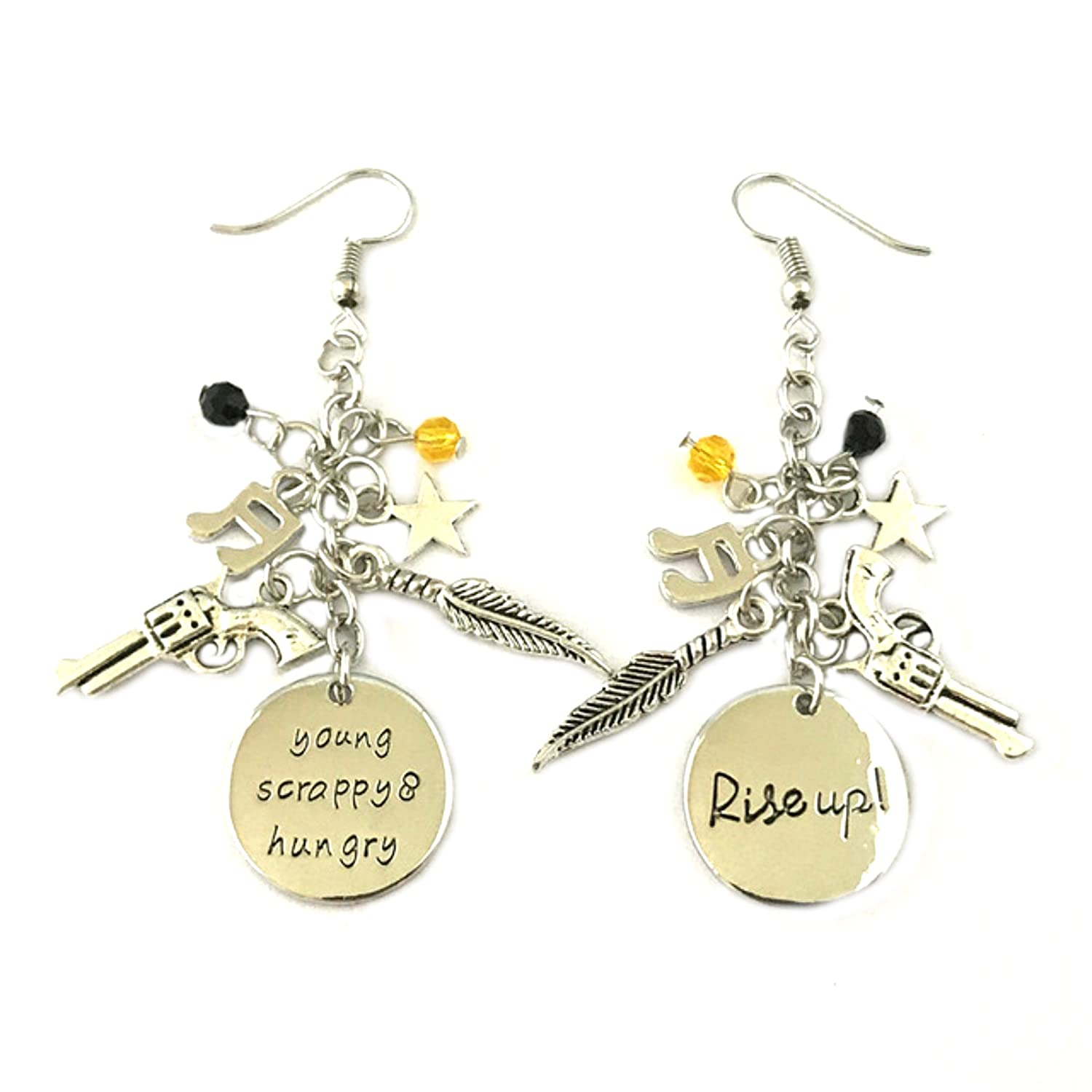 Amazon.com: Hamilton enamel Dangle Earrings BROADWAY ...