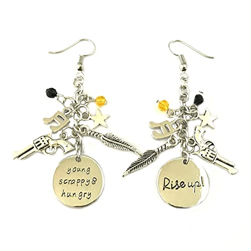 Amazon.com: Hamilton enamel Dangle Earrings BROADWAY ...