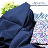 """Pre-Cut Quilting Cotton Twill Navy Blue Candy Color Fabric,Good Quality Craft Cloth,DIY for Sewing Crafting 61"""" by 1 Yard Rose Flavor"""