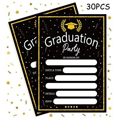 Graduation Invitations Cards with Envelopes Party Supplies 2020 - Grad Congrats Announcements Decorations: Toys & Games