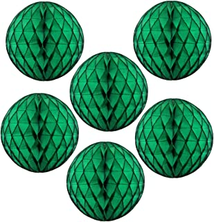 """product image for 12"""" Honeycomb Tissue Paper Ball Decoration (6-Pack, Dark Green)"""
