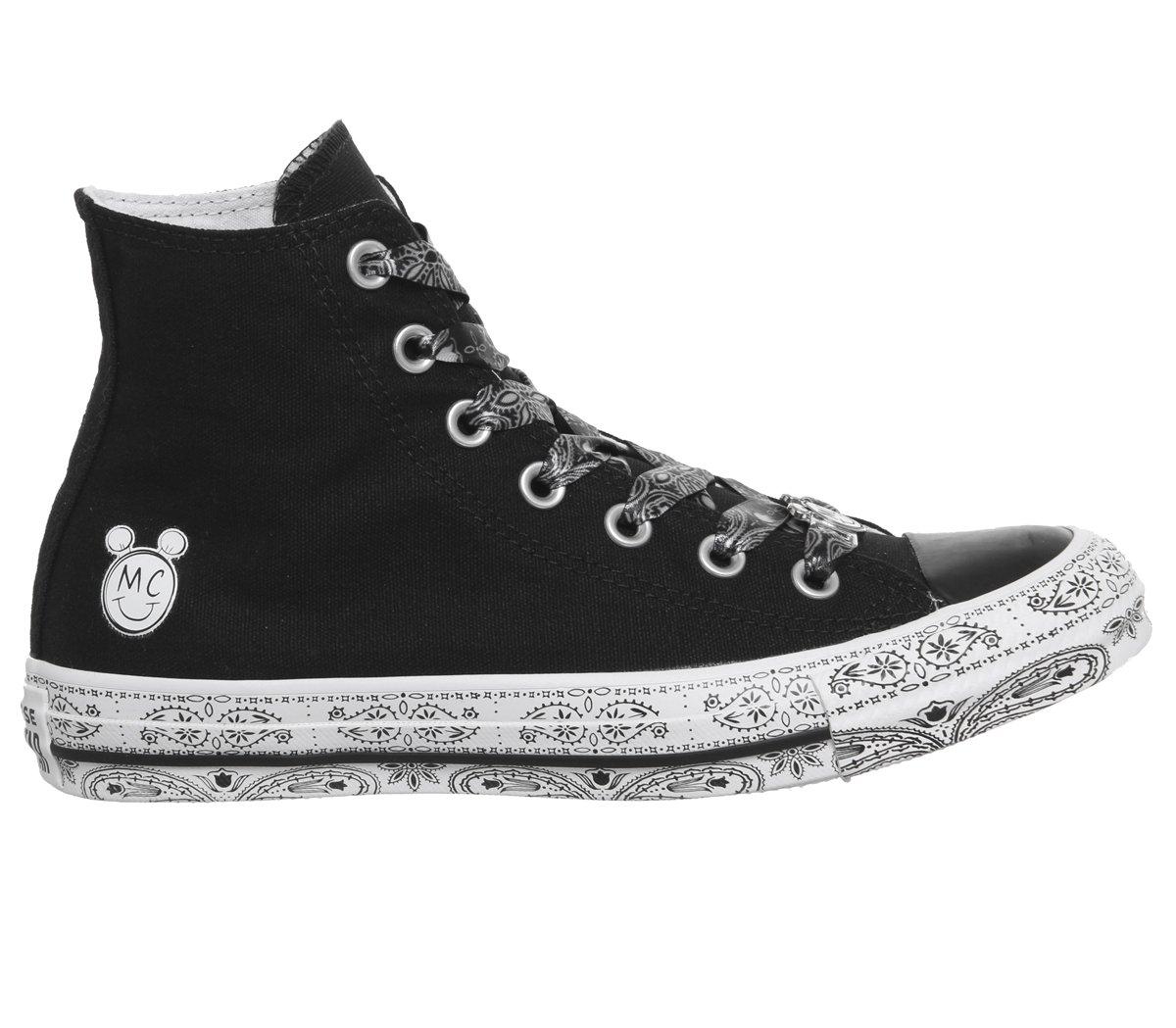 780bb9fe125b4 Converse Womens x Miley Cyrus Chuck Taylor All Star Lo Sneaker (Mens  3/Womens 5, Black White Black 9575)