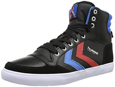 hummel Stadil High, Sneakers Hautes mixte adulte, Noir (Black/blue/red/gum), 46 EU