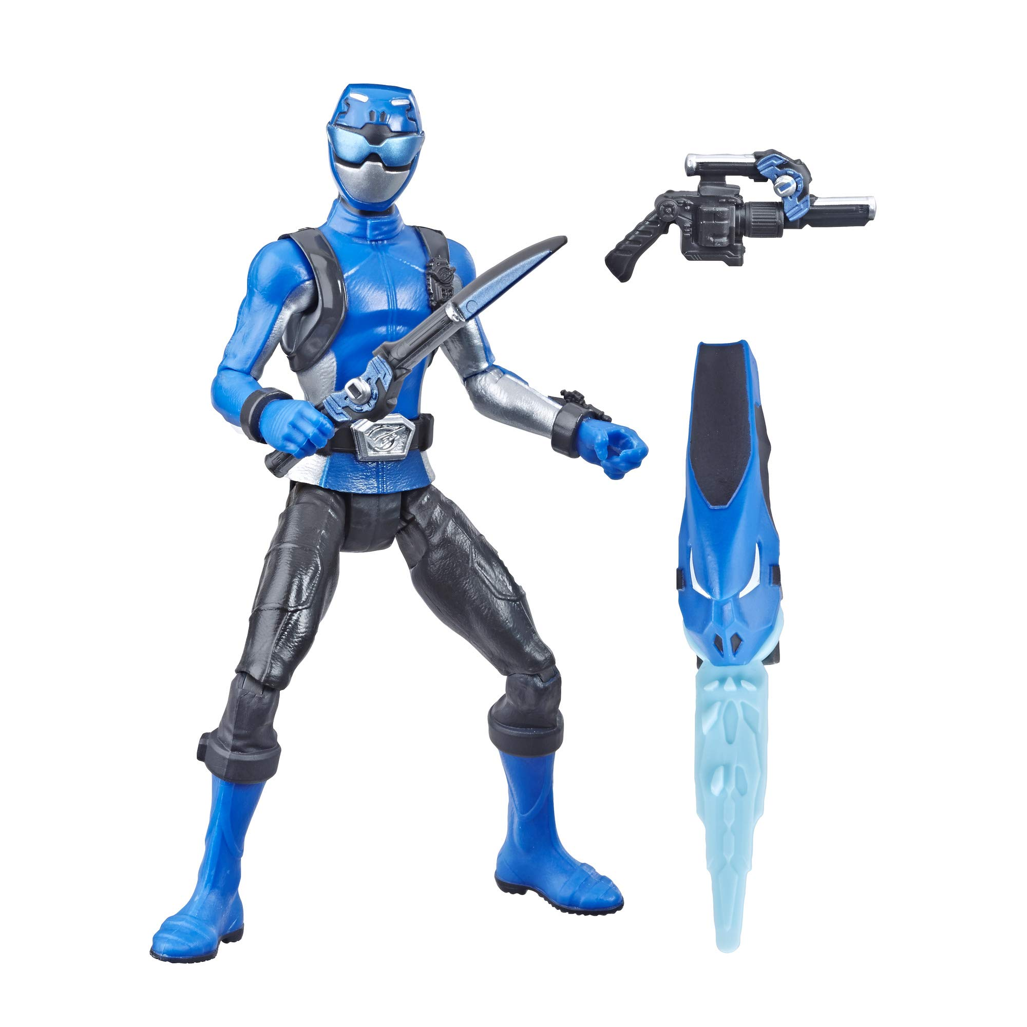"Power Rangers Hasbro Beast Morphers Blue Ranger 6"" Action Figure Toy Inspired by The TV Show, Brown/A"