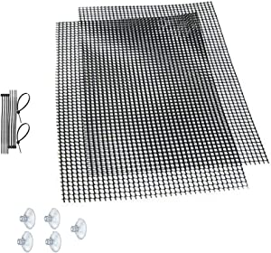 Luffy Decorative Aquatic Moss Wall/Floor Mesh Kit, Create a Lush Living Plant Moss Wall or Moss Carpet for Your Fish Tank (Plant Not Included): Includes 2 Mesh Pieces, 10 Cable Ties & 5 Suction Cups