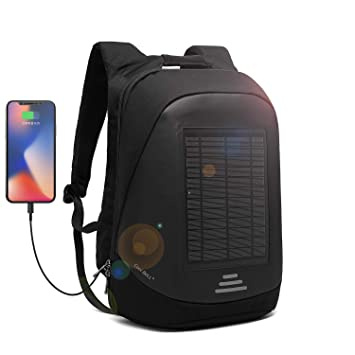 DTBG Mochila con Cargador Solar Mochila para portátil de 15.6 ...