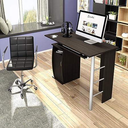 WEIBO Escritorio de Ordenador - 3 estantes - Mesa de Oficina en ...