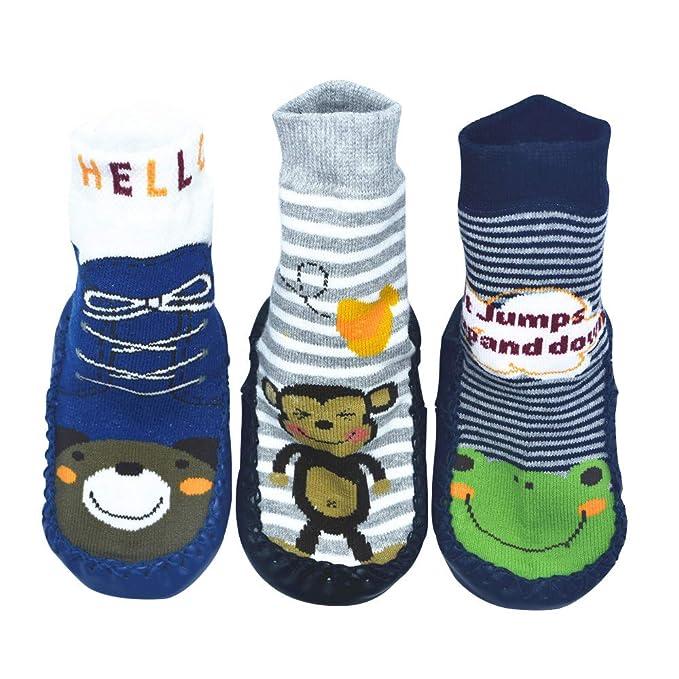 BOMPOW - Calcetines - para bebé niño verde 6-18 Months Talla única: Amazon.es: Ropa y accesorios