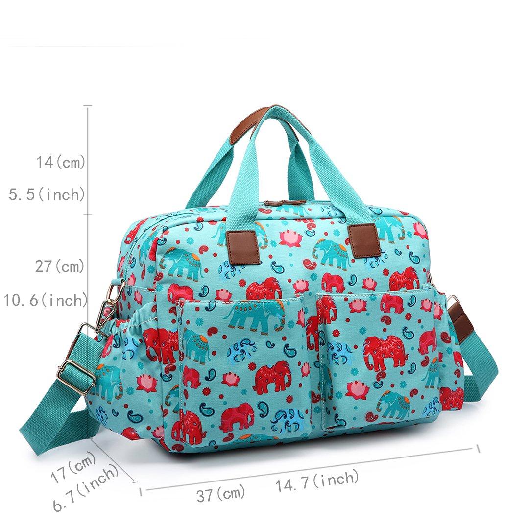 Miss Lulu bolso cambiador Juego de mama Nappy grandes bolso Tote limpio verde 1501D2 Gr/ün