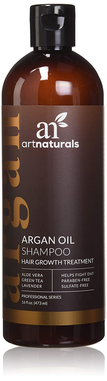 ArtNaturals Argan-Oil Shampoo for Hair-Regrowth - (16 Fl Oz / 473ml) - Sulfate Free - Treatment for Hair Loss, Thinning & Regrowth - Growth Product For Men & Women - Infused with Biotin ANHA-1641-VE