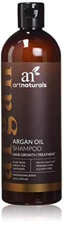 Art Naturals Organic Argan Oil Hair Loss Shampoo For Hair Regrowth 16 Oz   Sulfate Free   Best Treatment For Hair Loss, Thinning &   Growth Product For Men &... by Art Naturals