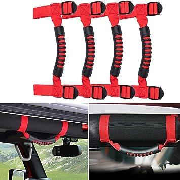 Fit for Jeep Wrangler CJ YJ TJ JK Red Unlimited Roll Bar Grip Handle Handles