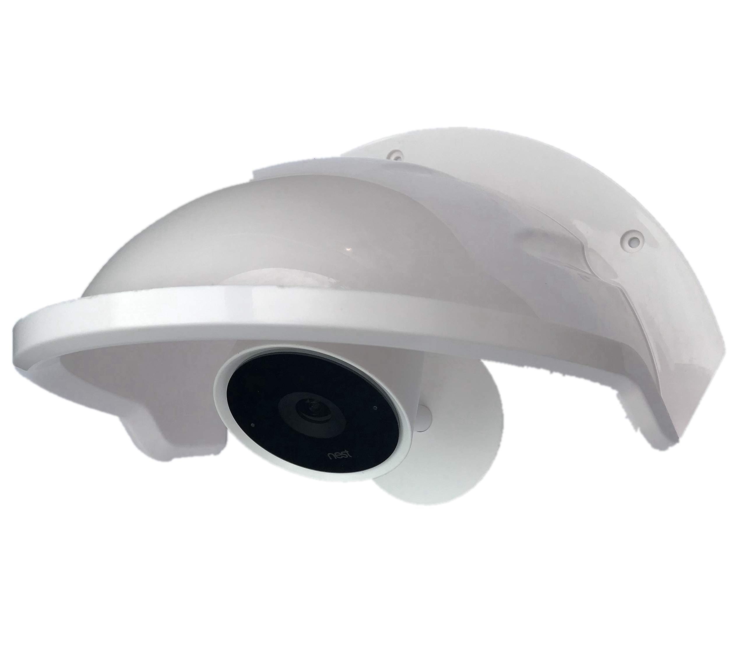 Universal Sun Rain Shade Camera Cover Shield for Nest/Ring/Arlo/Dome/Bullet Outdoor Camera - White (10)