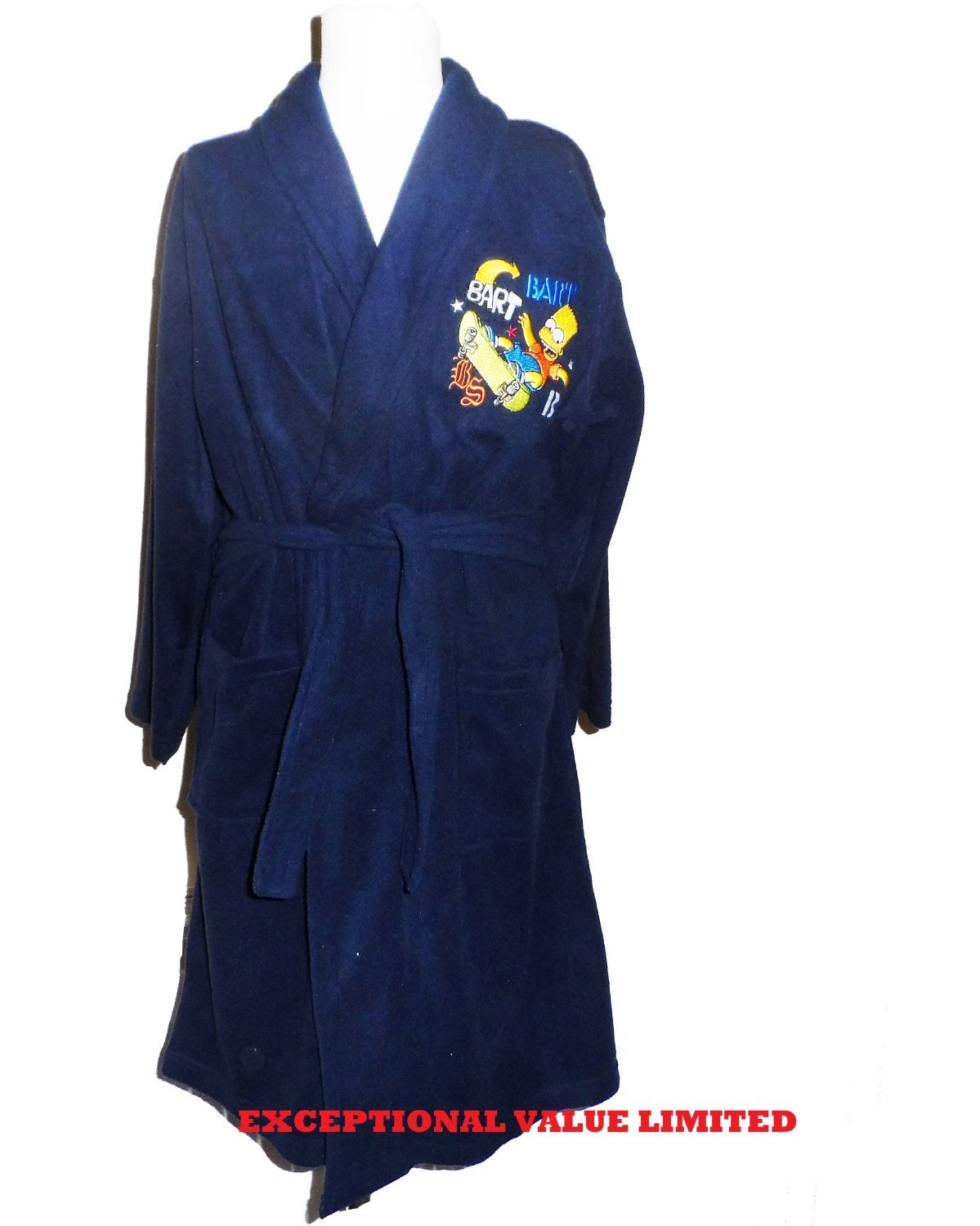 KIDS BOYS CHILDREN THE SIMPSONS BART DRESSING GOWN/ROBE OFFICIAL ...