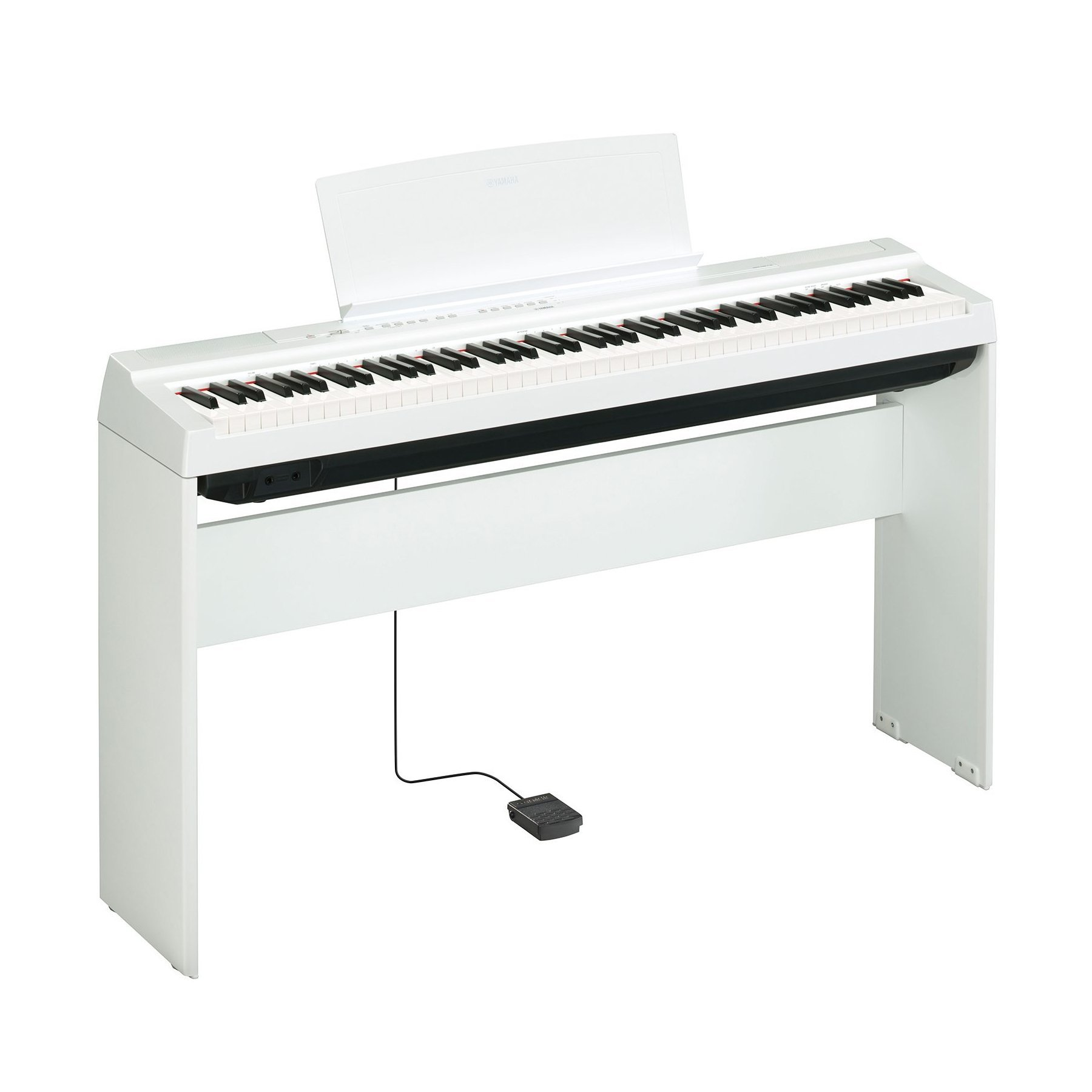 Yamaha P125WH 88-Key Weighted Action Digital Piano, White (with L125WH stand)