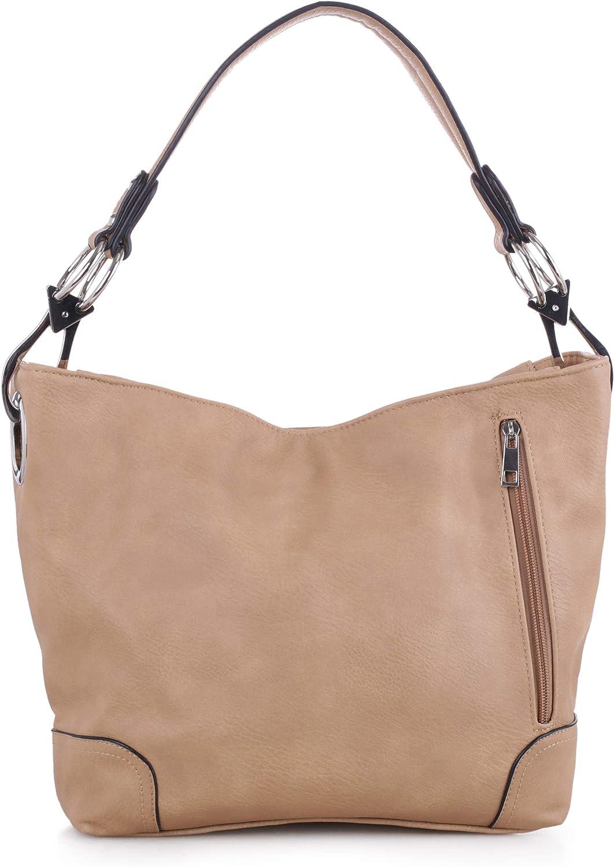Lydia Concealed Carry Lock and Key Hobo Handbag