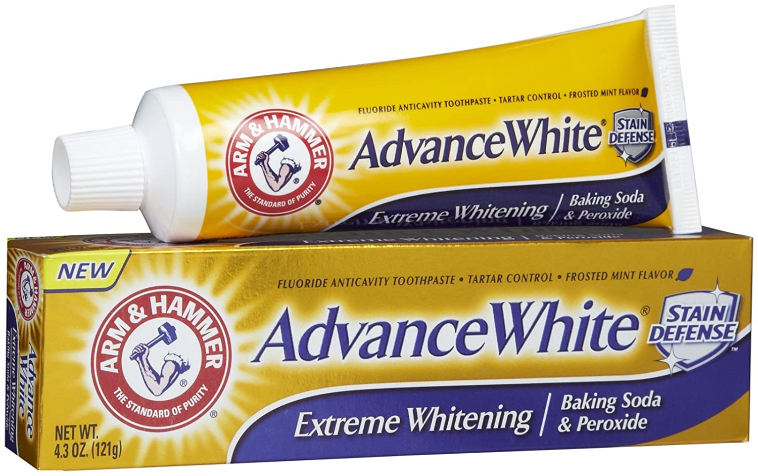 ARM & HAMMER Advance White Baking Soda & Peroxide Toothpaste, Extreme Whitening 4.3 oz (Pack of 2)