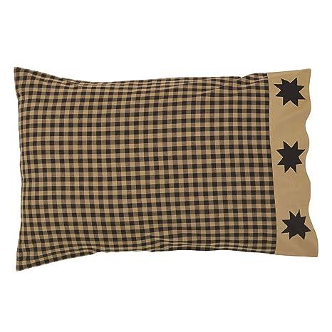 Amazon.com: VHC marcas Dakota Star Funda de almohada ...