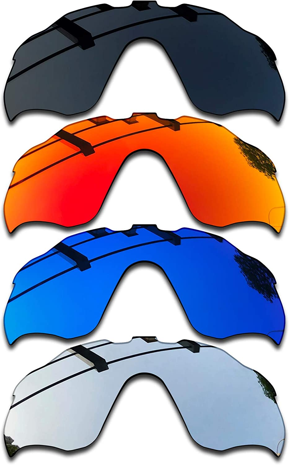 SEEABLE Premium Polarized Mirror Replacement Lenses for Oakley Radar Pace OO9333 Sunglasses