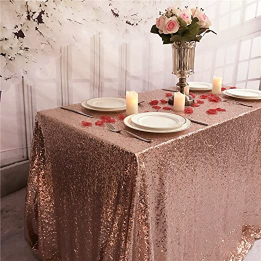 Polyester Cloth Fabric Cover Mill /& Thread 4 Premium Fitted Tablecloth for 48 x 24 Rectangular Table Wedding//Banquet//Trade Show Black
