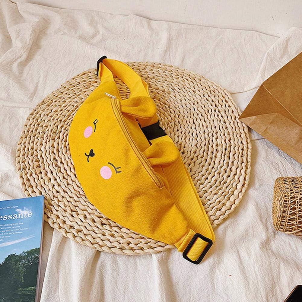 UEB Sacs Banane Enfants Taille Toile Filles Dessin Anim/é Lapin Poitrine Coffre Confortable Et Charmant Sauvage Jaune