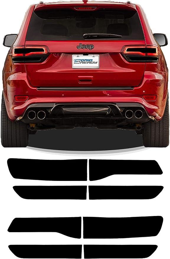 Monland for Grand Cherokee 2014-2020 Chrome Rear Tail Light Cover Rear Lamp Frame Molding Trim