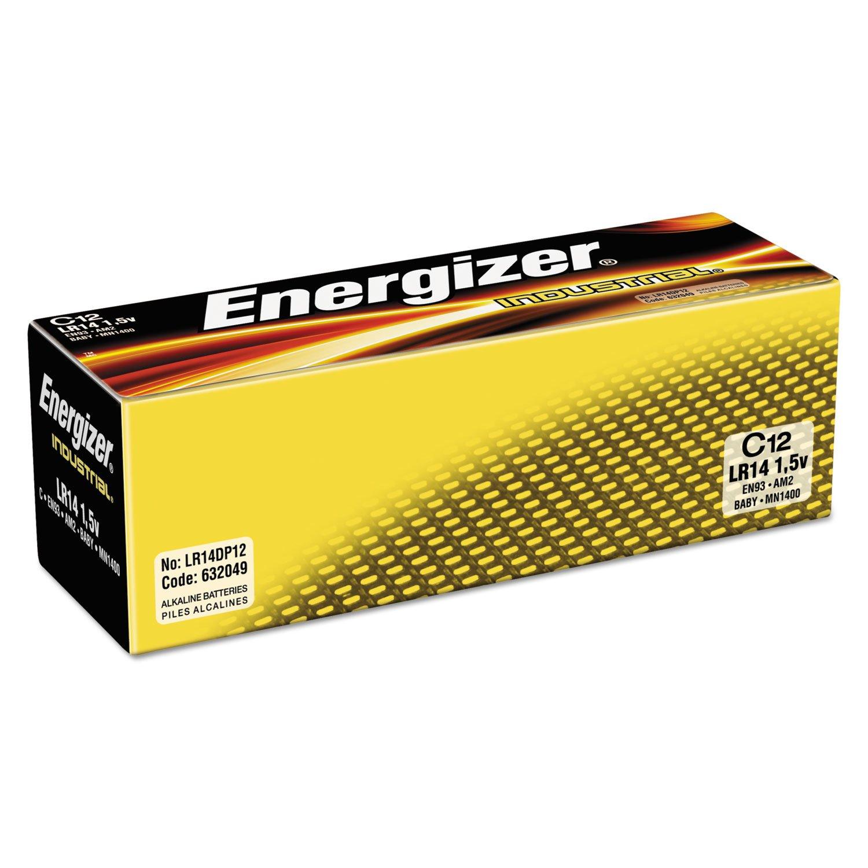 Energizer EN93 Industrial Alkaline Battery, C, 12/BX