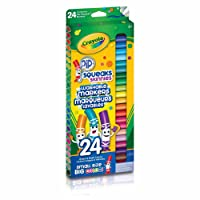 Crayola 24 Pip-Squeaks Skinnies Fine Line Washable Markers, School and Craft Supplies, Gift for Boys and Girls, Kids, Ages 3,4, 5, 6 and Up, Holiday Toys, Stocking Stuffers, Arts and Crafts