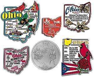 Six-Piece State Magnet Set - Ohio