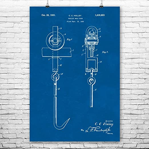 Meat Hook Poster Print Butcher Gift Meat Locker Butchers Shop Meat Lover