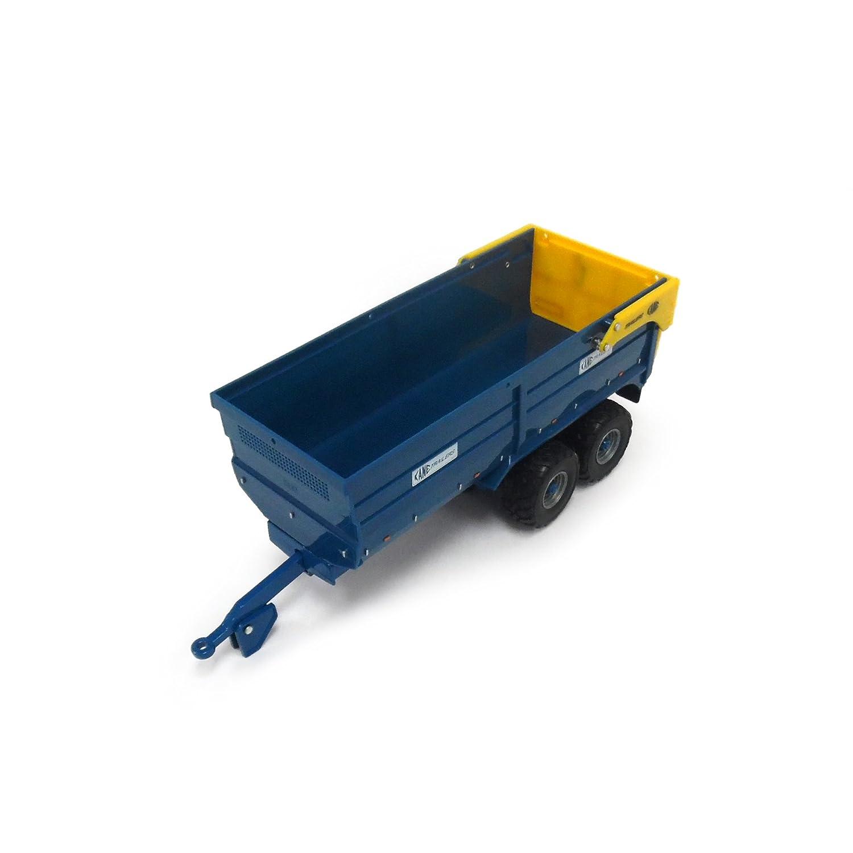 TOMY Britains Silage Anhänger Kane in blau - Traktoranhänger aus Metall - fördert die Geschicklichkeit Ihres Kindes - ab 3 Jahre Britains Farm 42701 3510F8903968