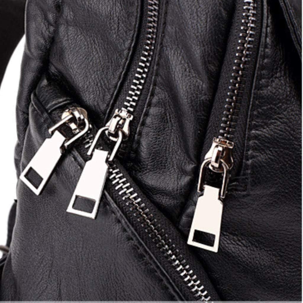 ZYqi Backpack Bag Handbag Casual Wild Travel Backpack Korean Version of The College Wind Bag Color : Black