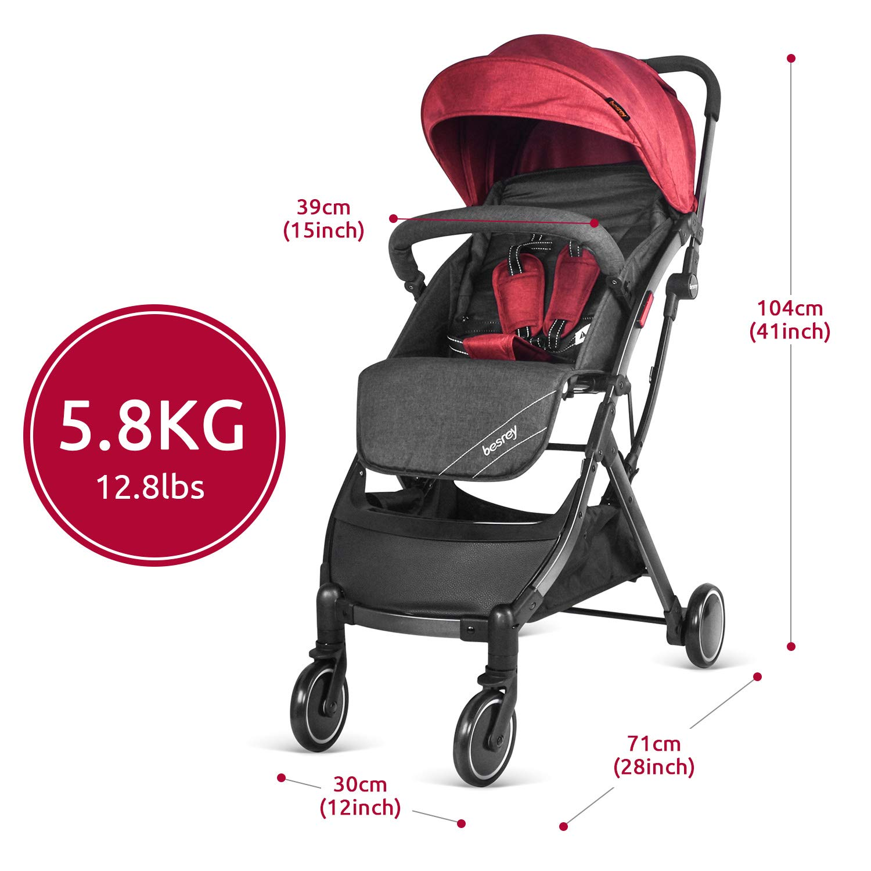 Besrey Cochecito Avion para Bebe Nino Silla paseo compacta y manejable Silla de paseo ligera
