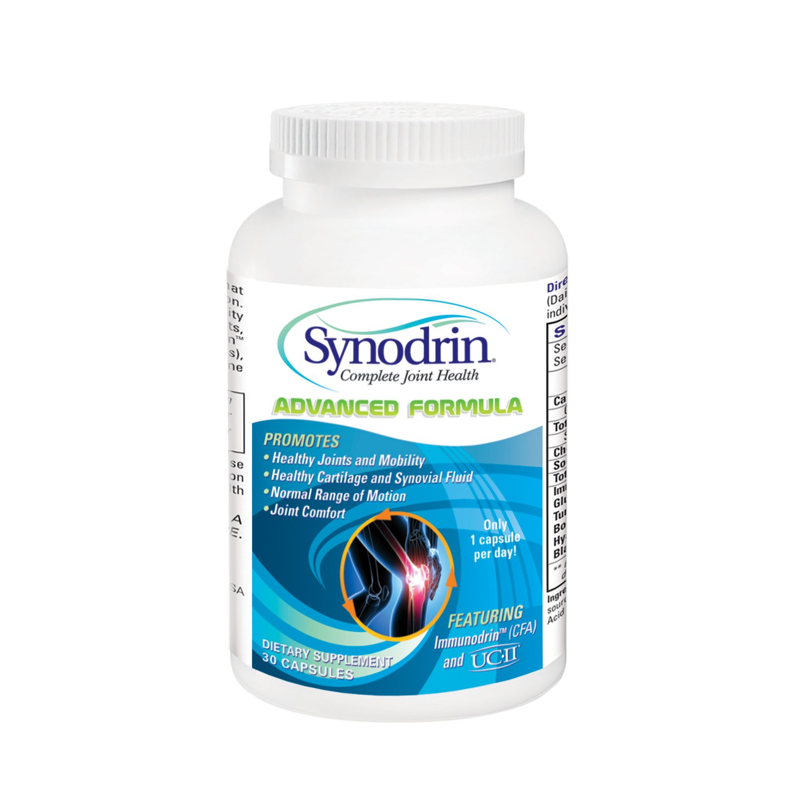 Synodrin Advanced Complete Joint and Arthritis Pain Relief Supplement (30 Count) with UC-II Collagen, Immunodrin, Turmeric, Boswellia, Hyaluronic Acid and Black Pepper Extract for Maximum Pain Relief