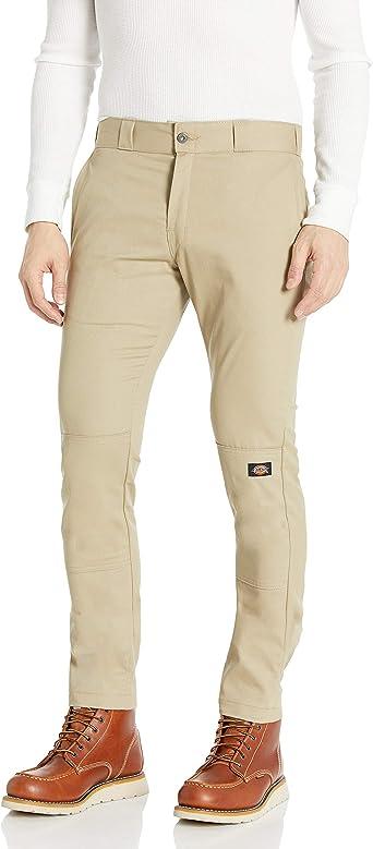 Amazon Com Dickies Wp811 Skinny Recto Doble Rodilla Pantalon De Trabajo 32 Cintura X 32 Largo Desert Sand Clothing