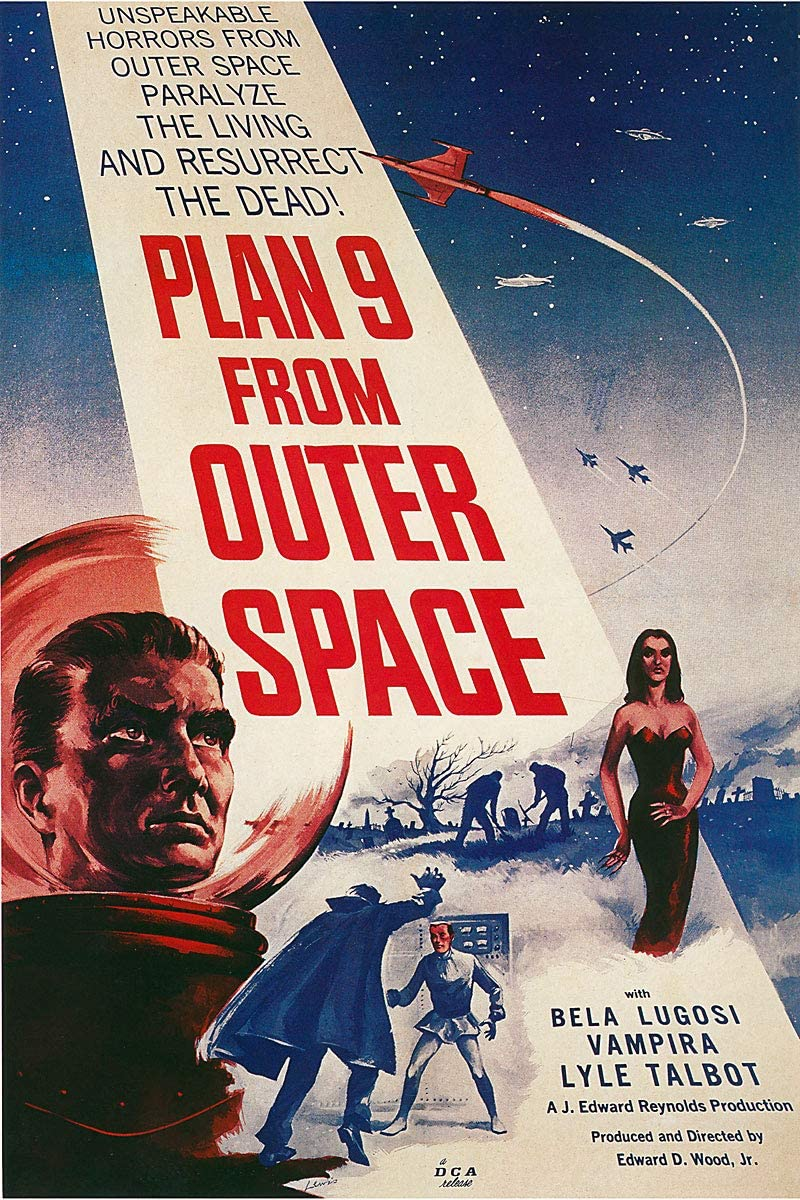 American Gift Services - Vintage Ed Wood Movie Poster Plan 9 from Outer Space - 24x36