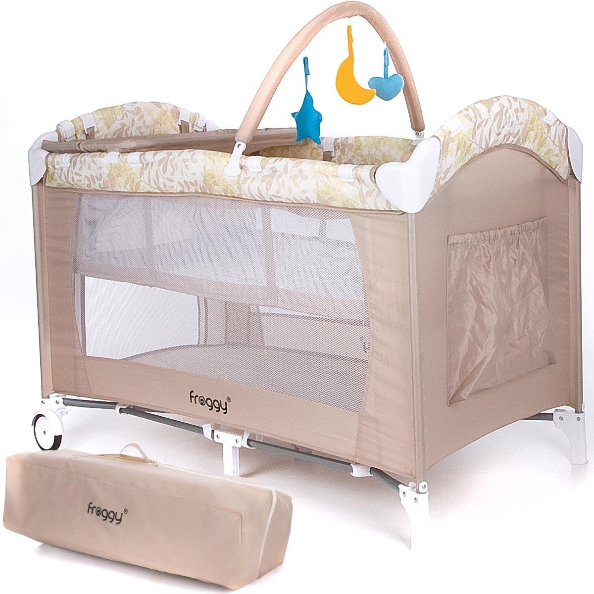 Froggy® Baby bed travel cot furniture cribs portable child bed ...