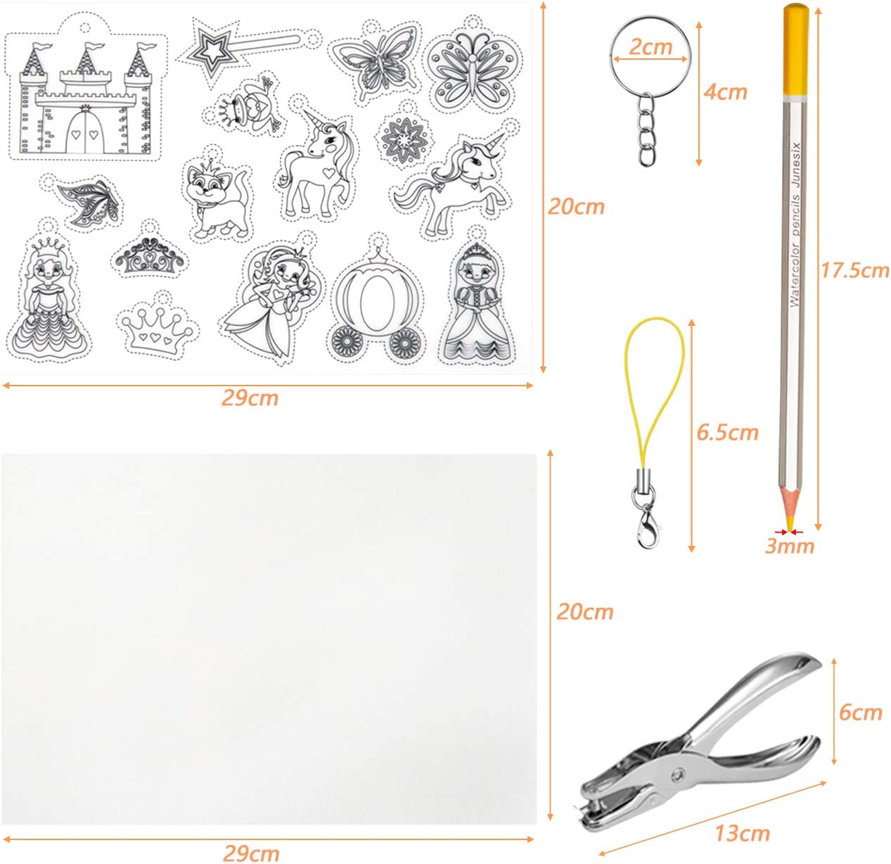 GWHOLE Kit de Hoja Termocontra/íble Pl/ástico Juguete de Pintura Manualidad para Ni/ño,Heat Shrink Plastic Sheet Kit