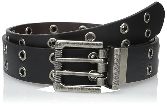 Wolverine Men's Leather Grommet Reversible Belt Black To Brown by Wolverine
