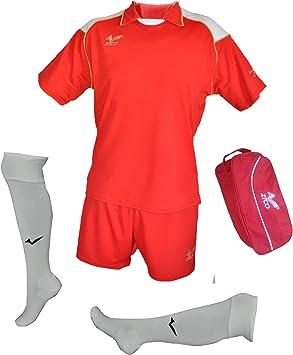 ZICO ESPAÑA Conjunto equipación Fútbol Hombre Rojo, Camiseta ...