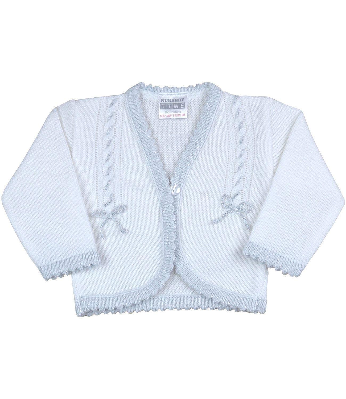 BabyPrem Baby Girls Cardigan Silver Trim /& Bows