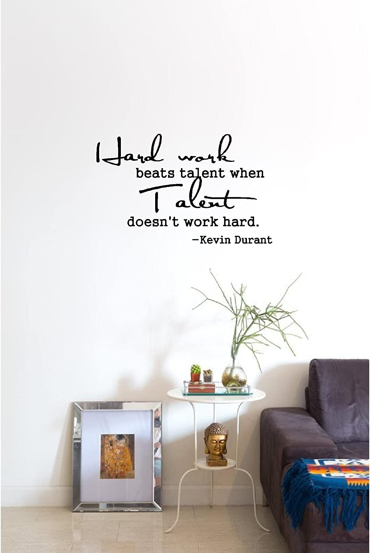 Amazon.com : Hard work beats talent when talent doesn\'t work hard ...
