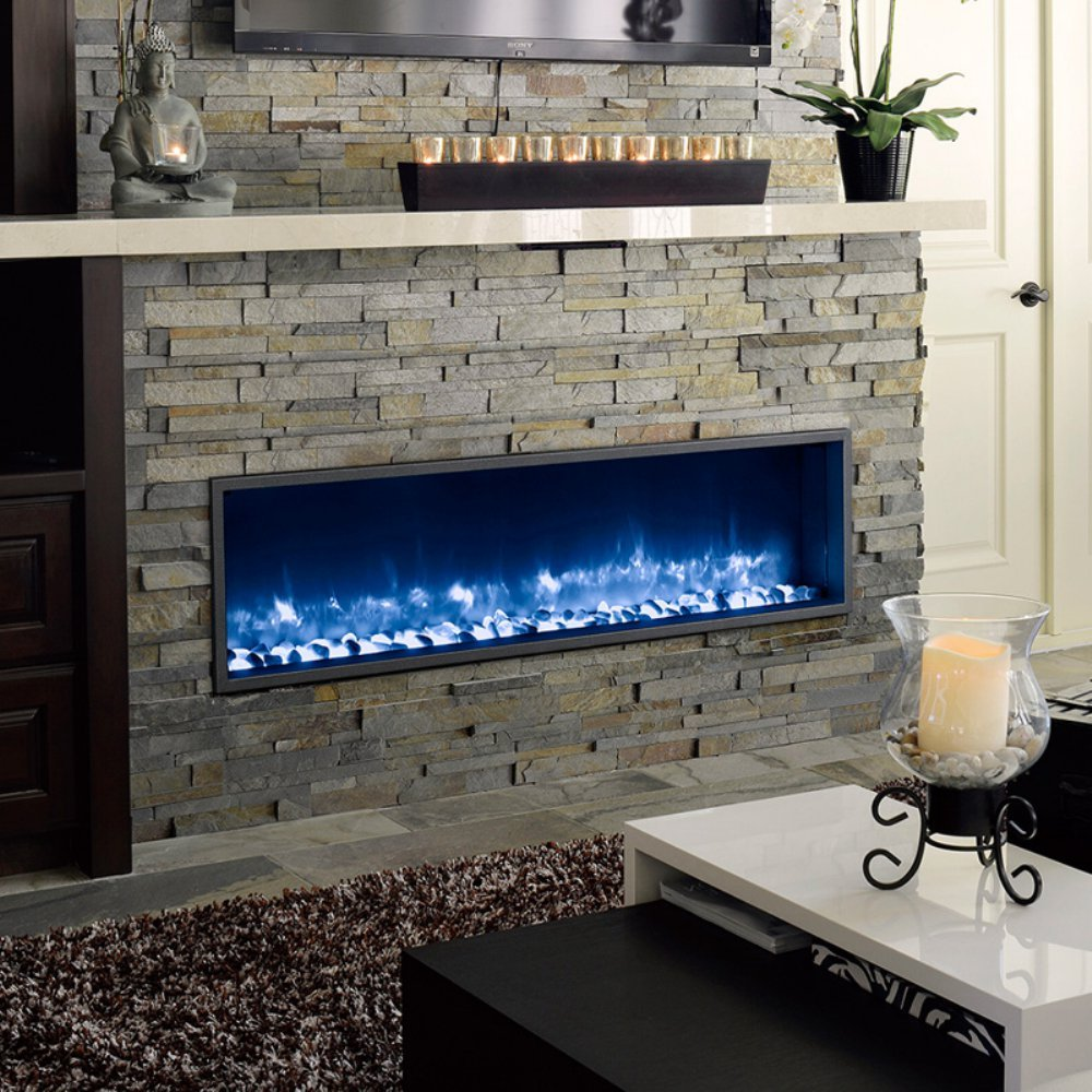 Amazon.com: Dynasty Built-In Electric LED Fireplace: Home & Kitchen