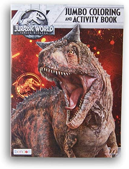 Amazon.com: Lazy Days Jurassic World Fallen Kingdom Jumbo Coloring And  Activity Book - 96 Pages: Toys & Games