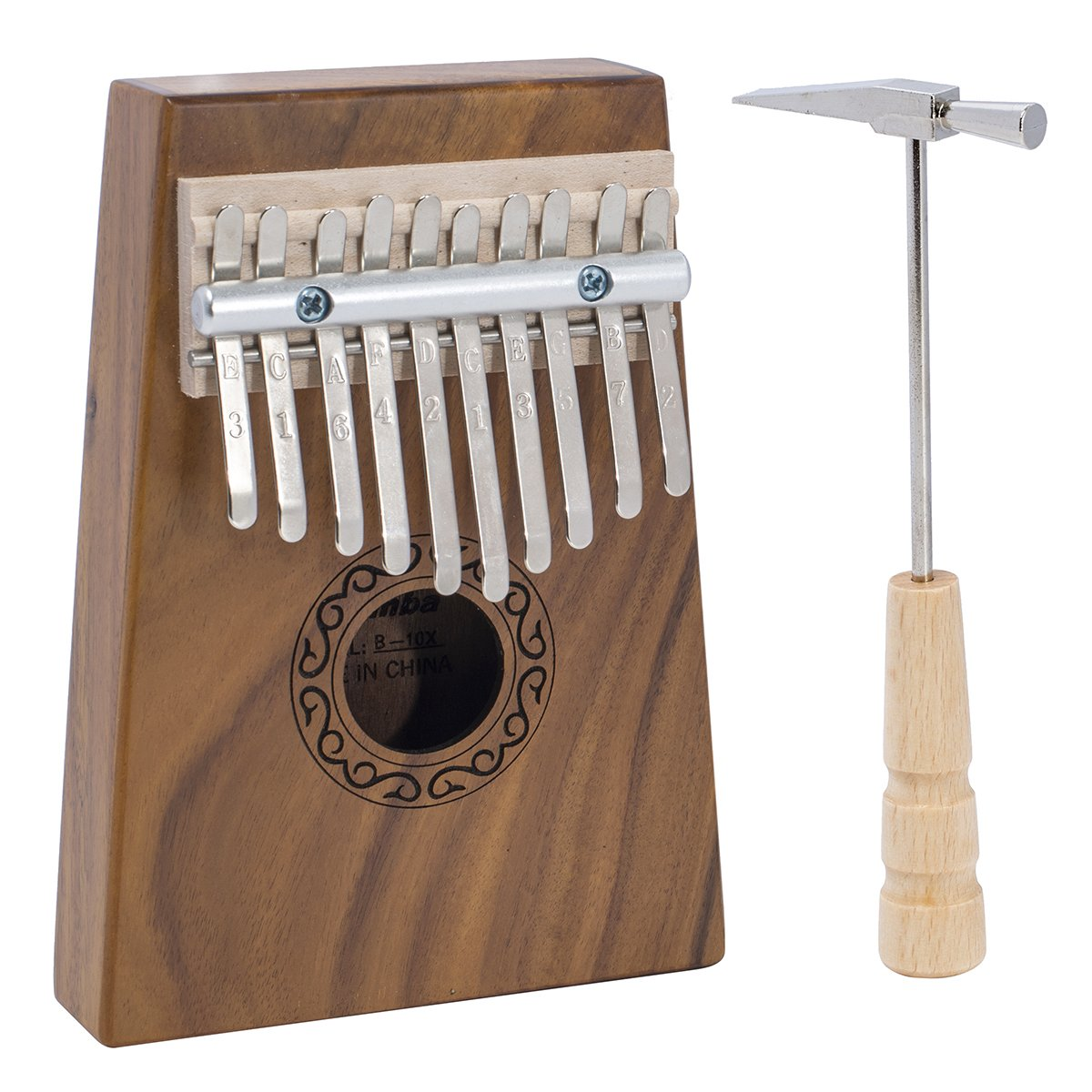 Deekec 10 key Kalimba Thumb Piano with Instruction and Tuner Hammer, Portable Acacia Body ¡­ Deekec International KLB013-K
