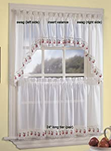 CHF Industries Apple Orchard Kitchen Curtain - Swag (pr)