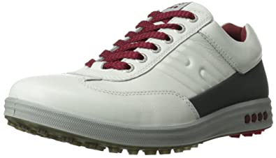 ECCO Men's Street EVO One Golf Shoe,White/Dark Shadow,45 EU/