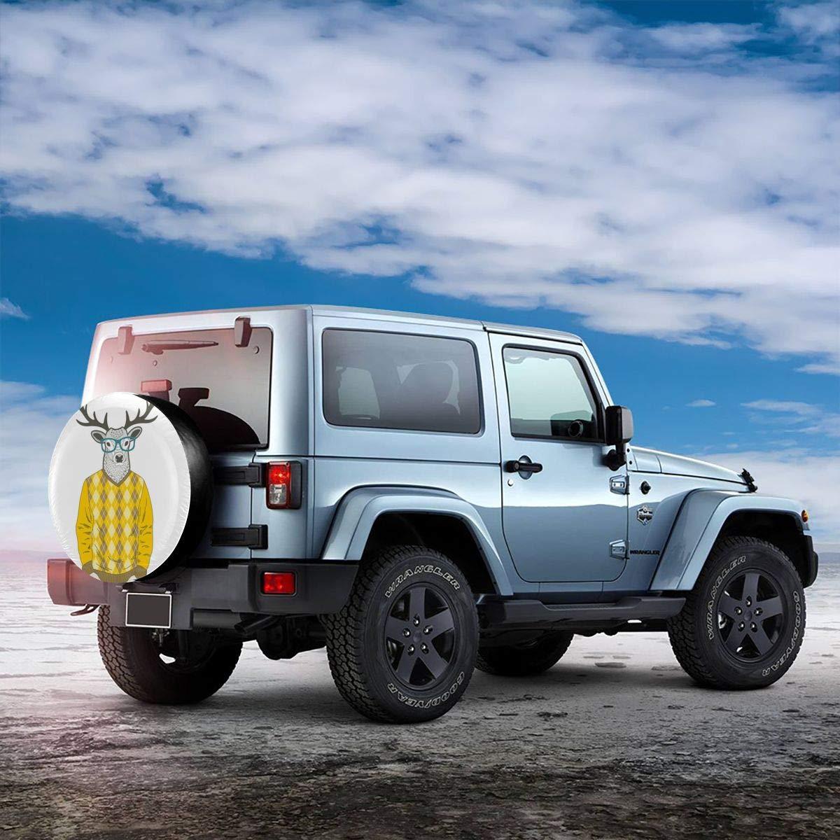 Mextrani Spare Tire Cover 14 15 16 17 inch Wheel Tire Cover for RV Camper Travel Trailer RAV4 Car Truck Tire