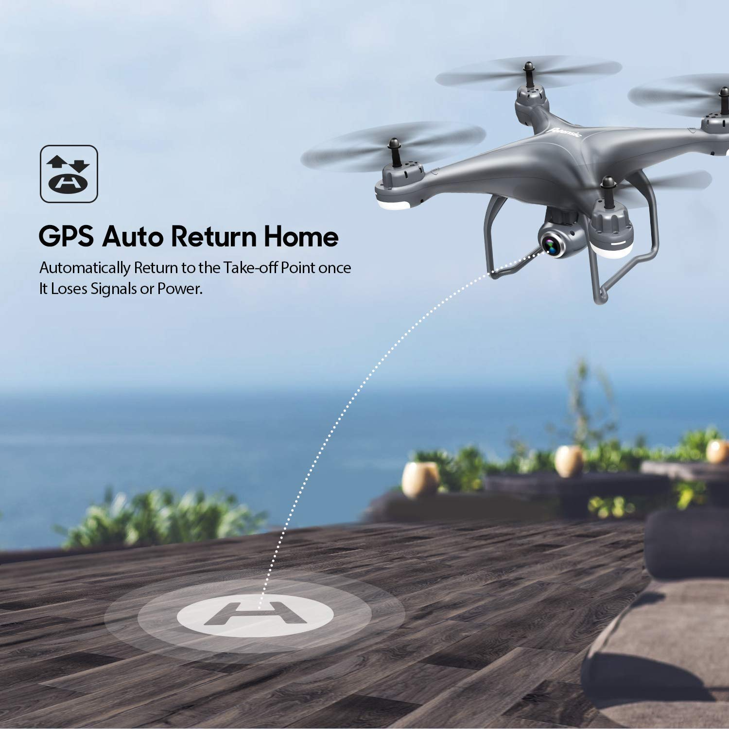 Potensic T25 GPS Drone, FPV RC Drone with Camera 1080P HD WiFi Live Video, Auto Return Home, Altitude Hold, Follow Me and Carrying Case by Potensic (Image #4)